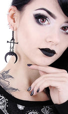 Claws & Bones [Black] | EARRINGS