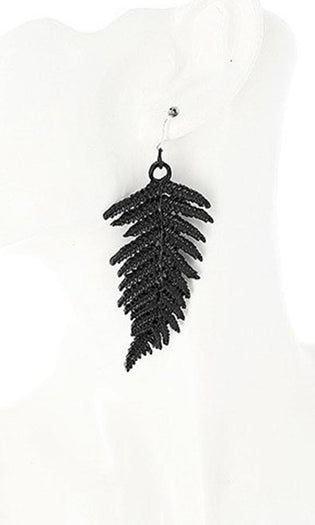 Fern [Black] | EARRINGS