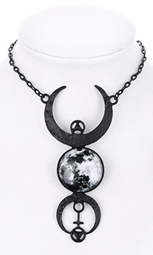 Full Moon [Black] | NECKLACE