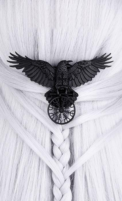 Helm of Awe Raven Hair clip