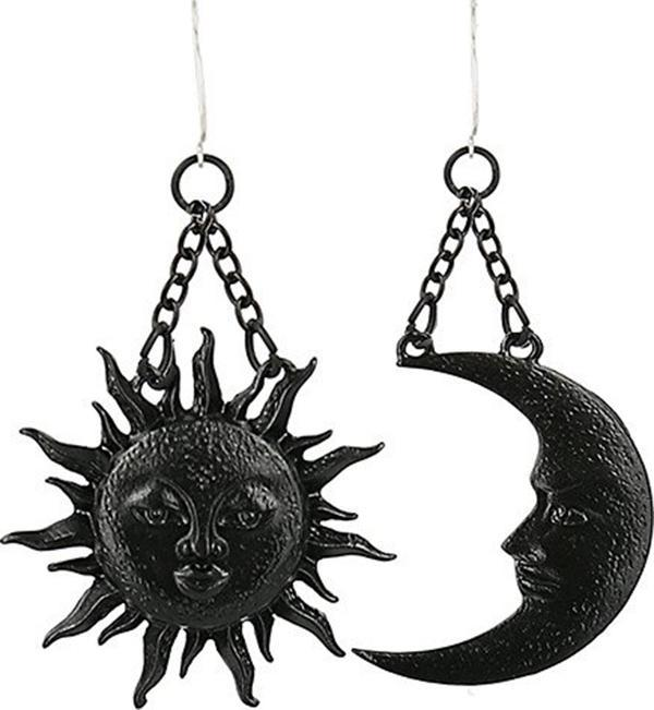 Moon & Sun [Black] | EARRINGS