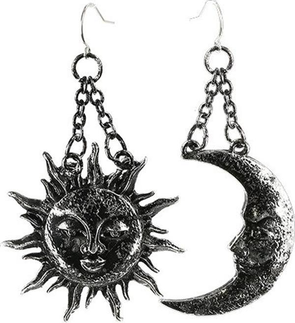 Moon & Sun [Silver] | EARRINGS