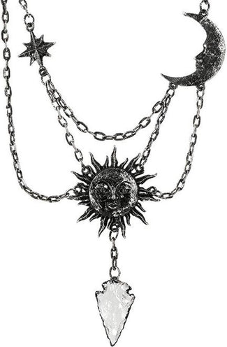 Moon & Sun [Silver] | NECKLACE