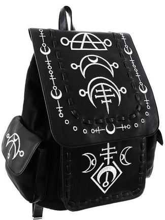 Runic Moon White Backpack