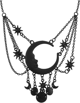 Sleepless Nights [Black] | NECKLACE