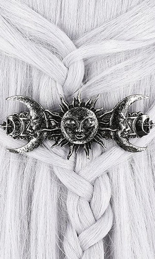 Sun & Moon [Silver] | HAIRCLIP
