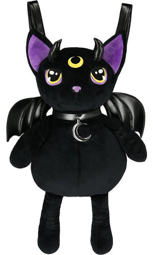 Violet Demonic Cat Mascot | BACKPACK