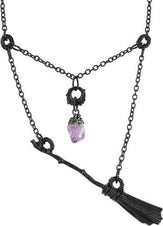 Witch Broomstick [Black] | NECKLACE