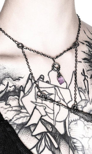 Witch Broomstick [Silver] | NECKLACE