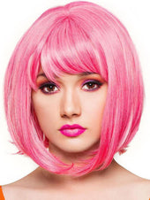 Candy Girl Bob Hot Pink Blend Wigs