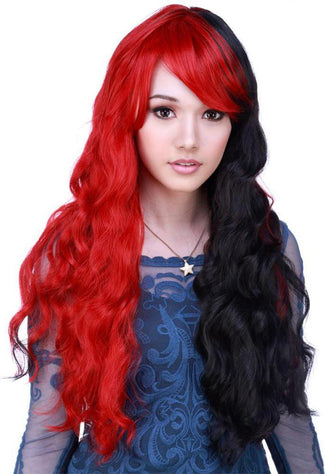 Classic Wavy [Red & Black] | WIG