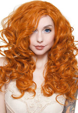 Cosplay Dark Pumpkin Orange Wigs 22 Inch
