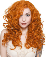 Cosplay Dark Pumpkin Orange Wigs