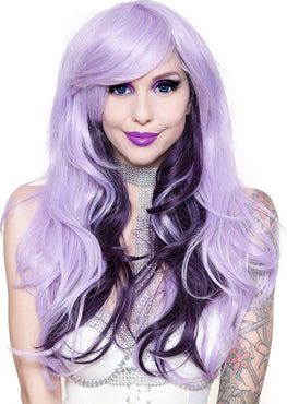 Downtown Girl [Lavender & Black Plum] | WIGS