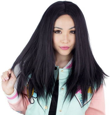 Lace Front Long Straight [Black] | WIGS [24 INCH]