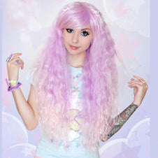 Lavender To Pink Fade Wigs
