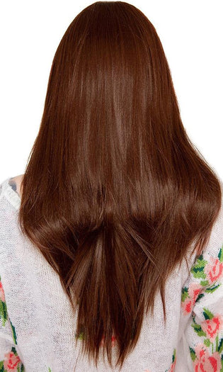 Yaki Straight [Chocolate Brown] | WIG [26 INCH]