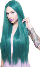 Yaki Straight Turquoise Mix | WIG [32 INCH]