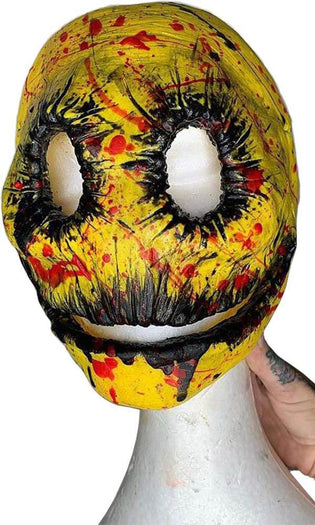 Mr Smiley Yellow & Black Blood Splatter | MASK