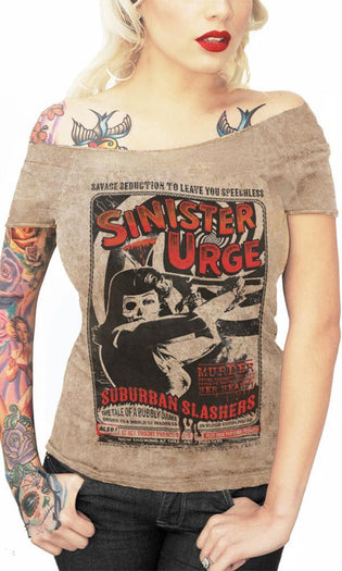 Sinister Urge | OFF SHOULDER TEE