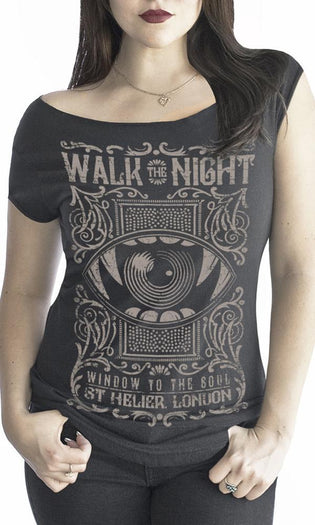 Walk The Night | OFF SHOULDER TEE