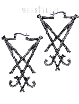Lucifer Sigil [Silver] | EARRINGS