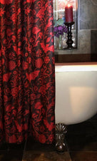 Elysian Fields [Red] | SHOWER CURTAIN