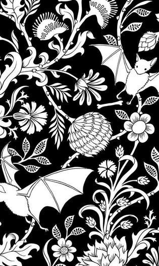 Elysian Fields [Black] | KING DUVET COVER