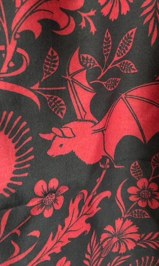 Elysian Fields [Black/Red] | TWIN DUVET COVER