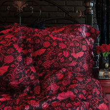 Elysian Fields [Red] | TWIN DUVET COVER