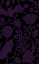 Elysian Fields [Purple] | SHOWER CURTAIN