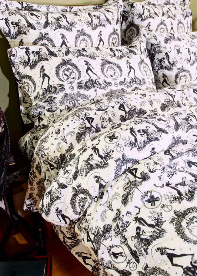 Fetish al Fresco Toile Duvet Cover