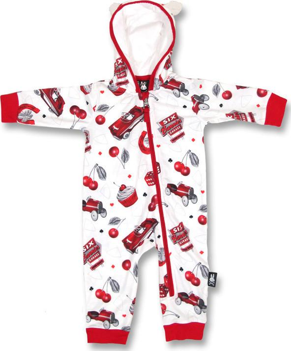 Sleep 'N' Play Hotrod Cherry Hooded Romper