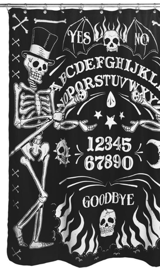 Skeleton Ouija Board Tattoo | SHOWER CURTAIN