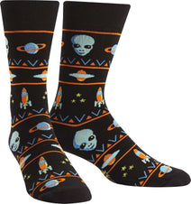 Alien Sweater Sighting Crew Socks Mens