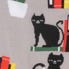 Booked for Meow | CREW SOCKS