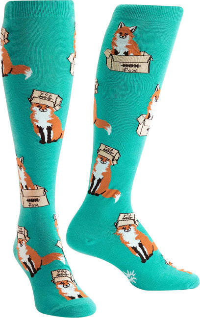 Foxes In Boxes Knee High Socks