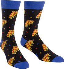 Pizza Party Crew Socks Mens