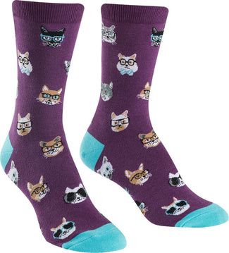 Smarty Cats | CREW SOCKS