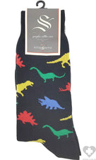Dinosaur Black  | SOCKS MENS