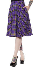 Bonnie [Purple Plaid] | SKIRT