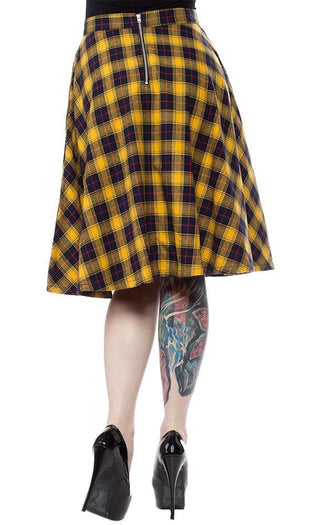 Bonnie [Yellow Plaid] | SKIRT