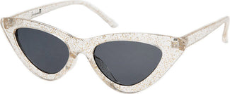 Cat Eye [Glitter Clear] | SUNGLASSES
