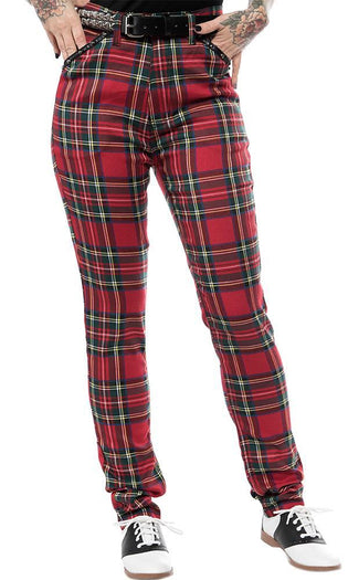 Essential Plaid | Studded PANTS