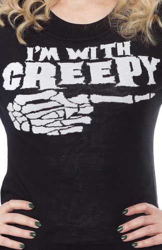 Im With Creepy | SWEATER*