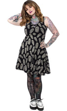 6 Feet Under | Keyhole SKATER DRESS*