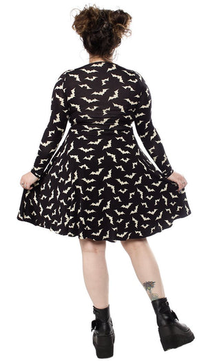 Luna Bats | Keyhole SKATER DRESS