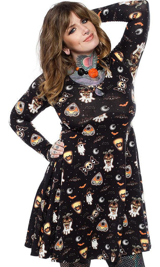 Spooky Treats | Keyhole SKATER DRESS*