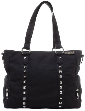 Leda Canvas Stud [Black] | HANDBAG