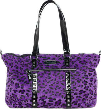 Leopard Leda [Purple] | TRAVEL BAG